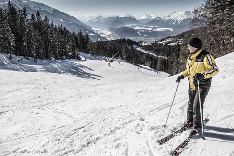 Skigebiet Gschwandtkopf in der Seefeld Olympiaregion in Tirol