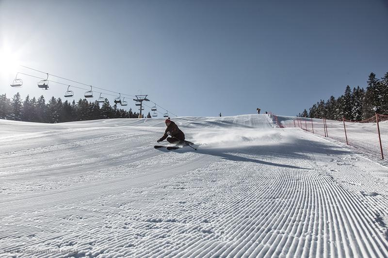 Herrliche Pisten im Skigebiet Gschwandtkopf - Seefeld