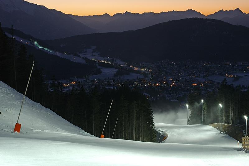Nachtskilaufen in Seefeld-Rosshütte