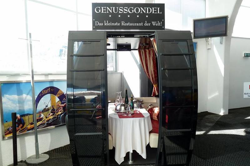 Genussgondel-Das kleinste Restaurant der Welt