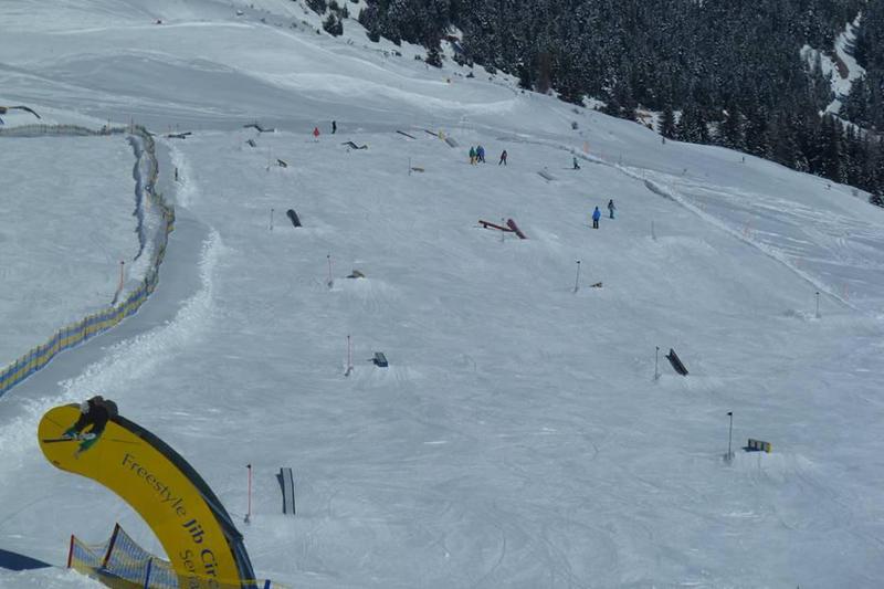 Freestylepark im Skigebiet Serfaus-Fiss-Ladis