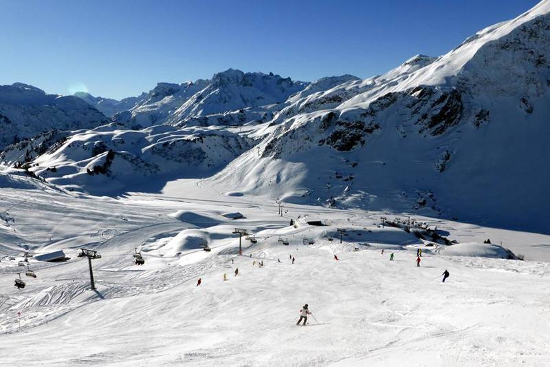 Abfahrt Auenfeld im Skigebiet Warth - Schröcken