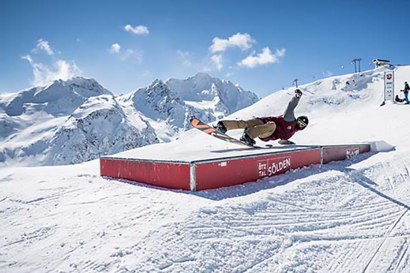 Funpark im Skigebiet Sölden