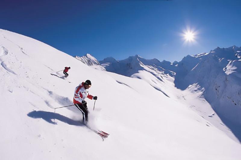 Skifahren unter besten Bedingungen