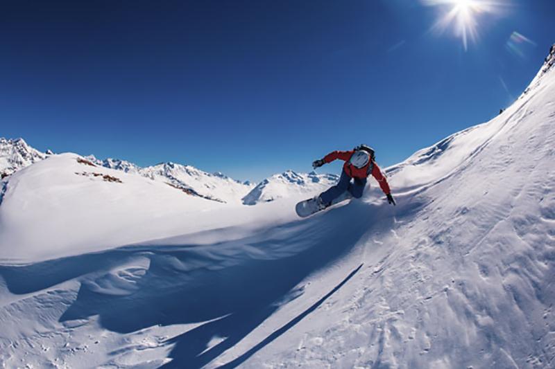 Snowboardfahren in Sölden