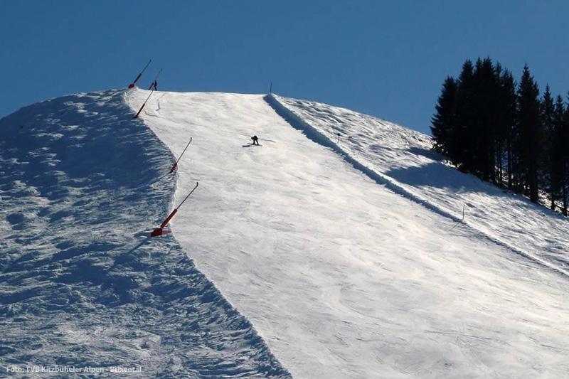 Steilstück Penzing im Skigebiet St. Johann - Oberndorf
