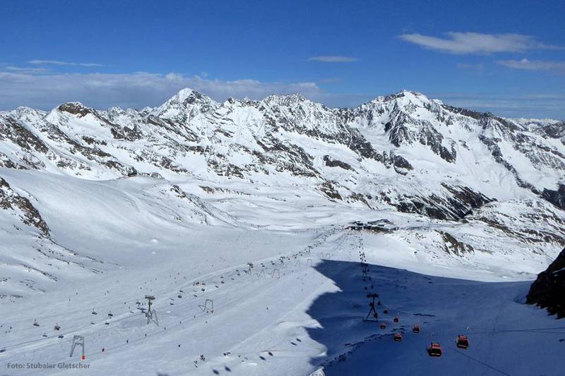Blick von der Schaufelspitze auf Eisjochferner