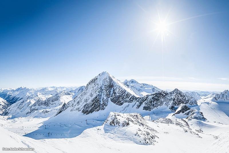 Skigebiet Stubaier Gletscher in Tirol - Österreich