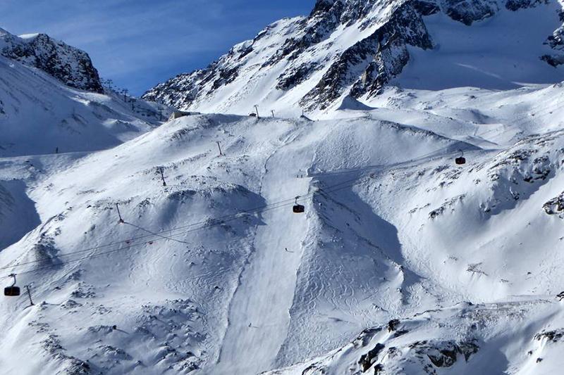 Piste Silberschneid am Stubaier Gletscher