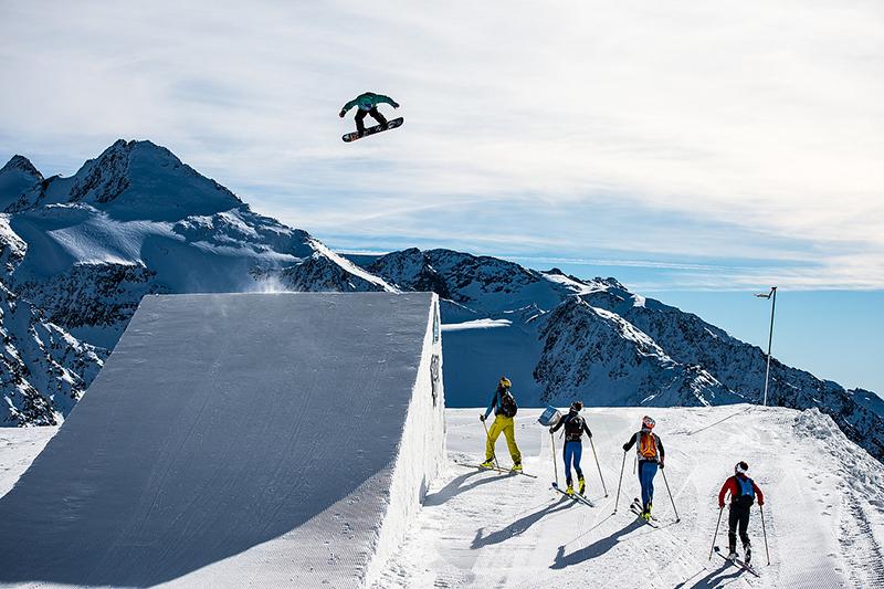 Der Prime Park am Stubaier Gletscher
