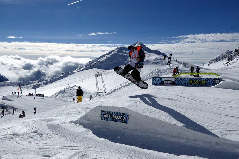 Snowpark auf dem Stubaier Gletscher