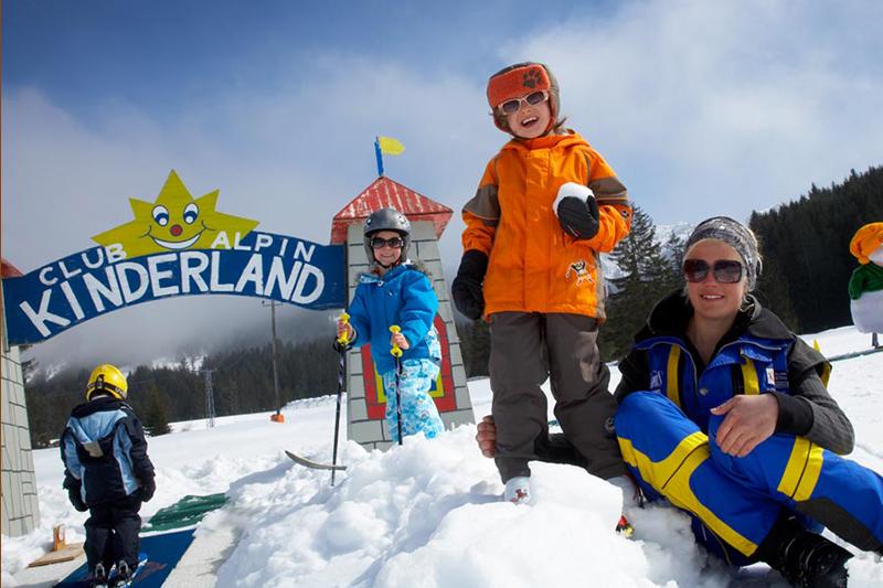 Club Alpin Kinderland im tiroler Skigebiet Tannheim
