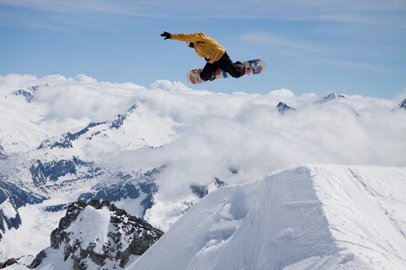 Funpark am Hintertuxer Gletscher in den Zillertaler Alpen