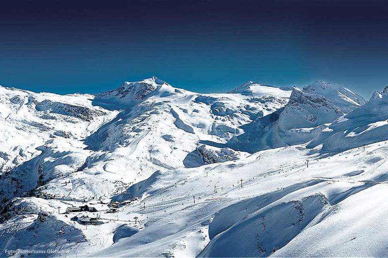 Skiurlaub im Skigebiet Hintertuxer Gletscher im tiroler Zillertal
