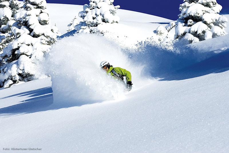 Skigebiet Hintertuxer Gletscher im Zillertal - Tirol