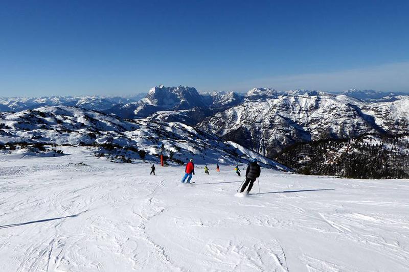 Skigebiet Waidring-Steinplatte in den Kitzbühler Alpen in Tirol