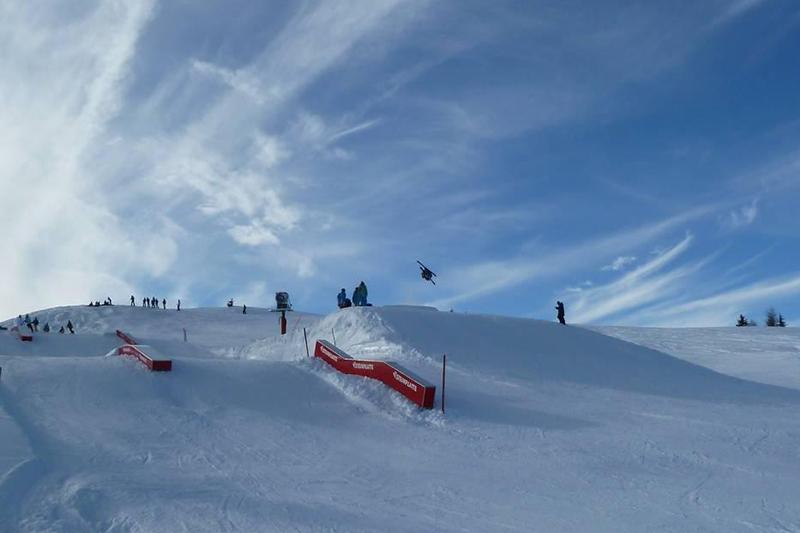 Der Snowpark im Skigebiet Waidring-Steinplatte - Österreich