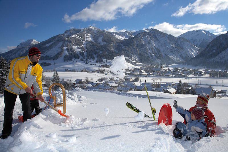 Skigebiet Zöblen im Tannheimer Tal in Tirol