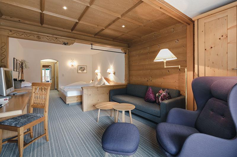 Wohnschlafzimmer deluxe mit Balkon