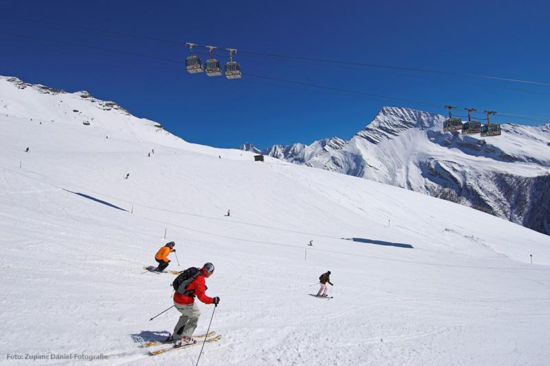 Skifahren im Skigebiet Ankogel