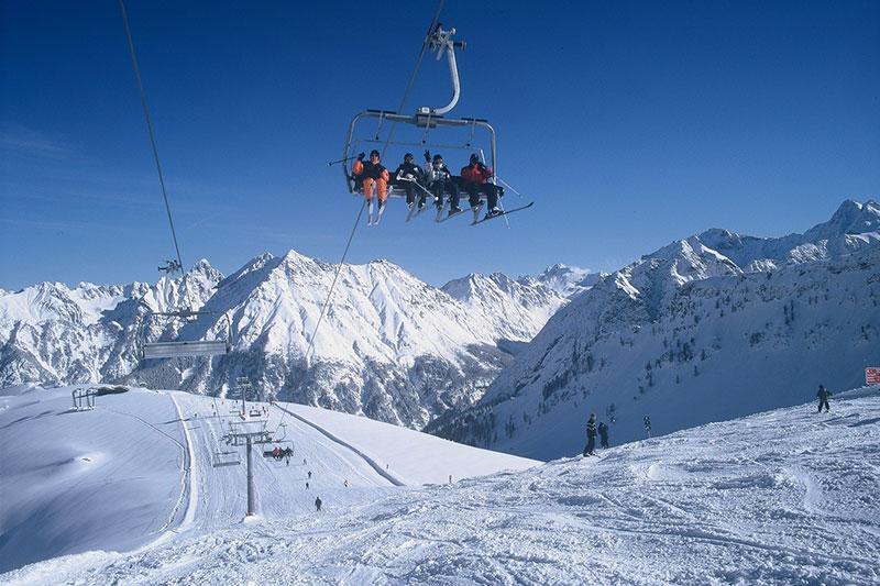 Bergbahn im Skigebiet Brandnertal/ Vorarlberg