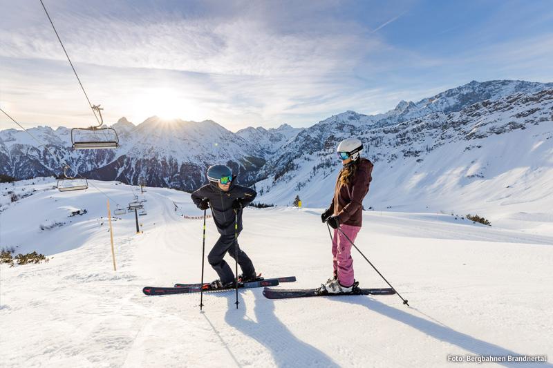 Skifahren im Skigebiet Brandnertal
