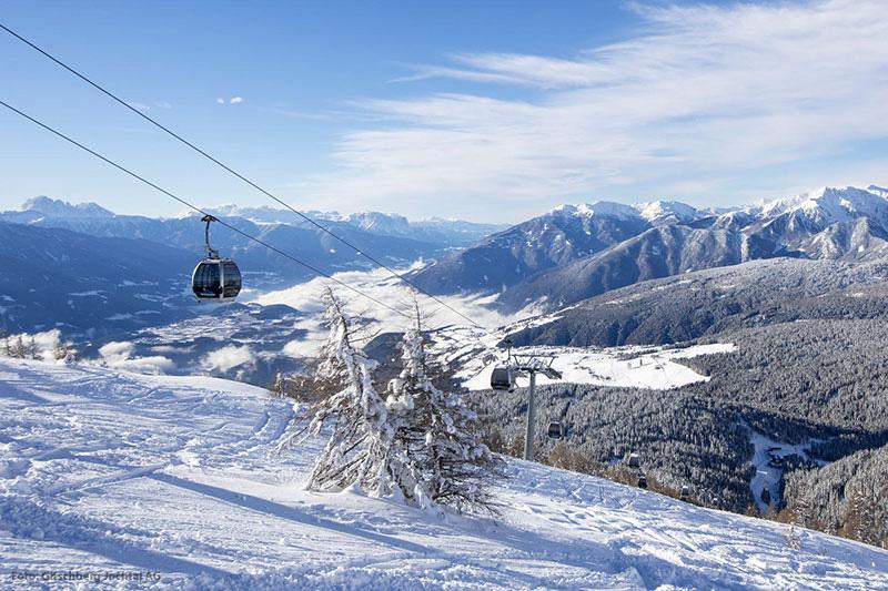 Das Skigebiet Gitschberg-Jochtal gehört zum Skiverbund Dolomiti Superski
