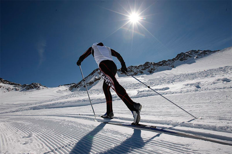 Langlaufen am Schnalstaler Gletscher