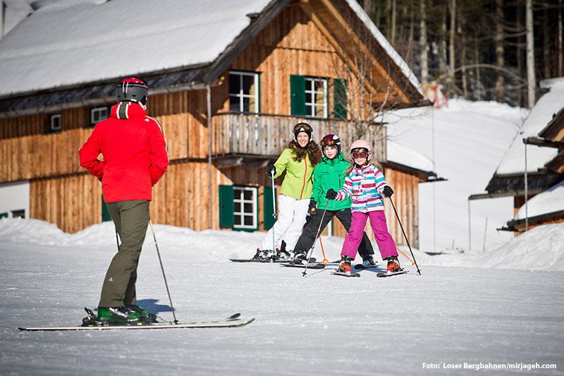 Familienskigebiet Loser mit der längsten Familienabfahrt Österreichs