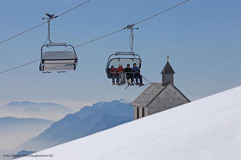 Skigebiet Meran 2000 in Südtirol