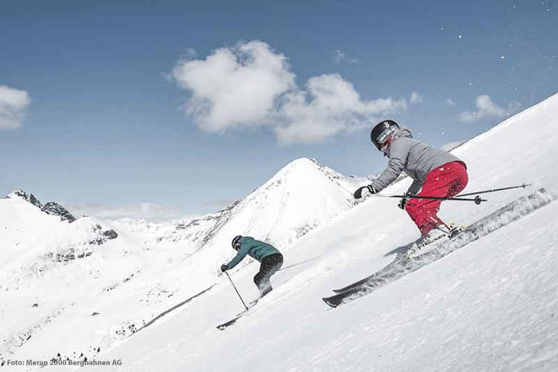 Skifahren im Skigebiet Meran 2000