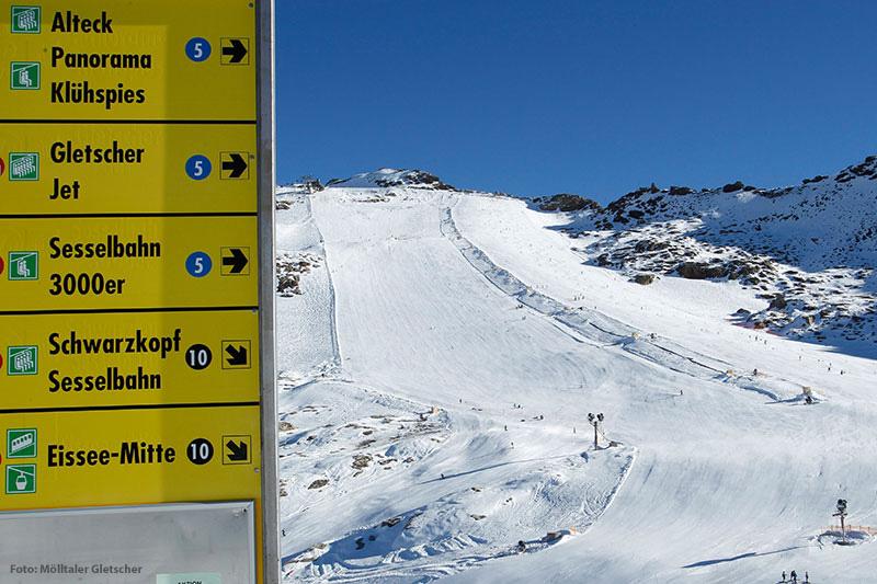 Gletscherskifahren in Kärnten