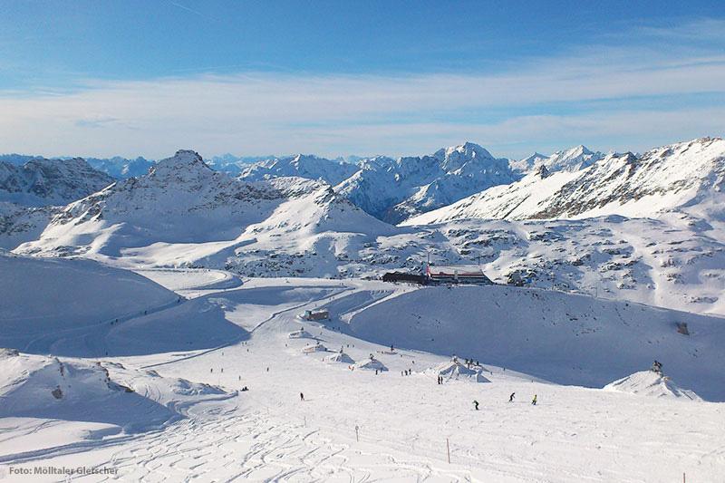 Skigebiet mit Snowpark