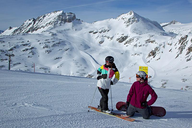 Snowboarden Mölltaler Gletscher/Flattach