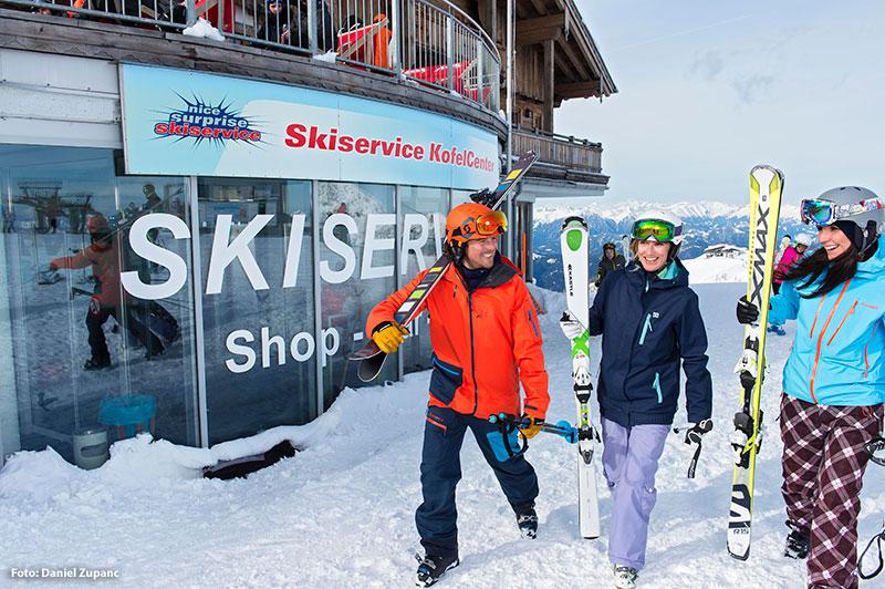 Skiservice direkt an der Piste