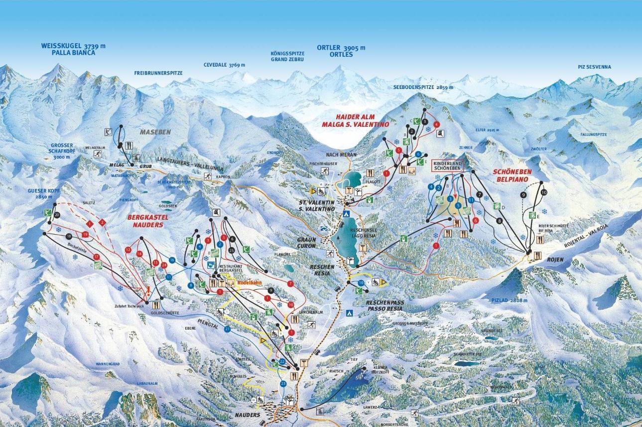 Pistenplan Skigebiet Schöneben