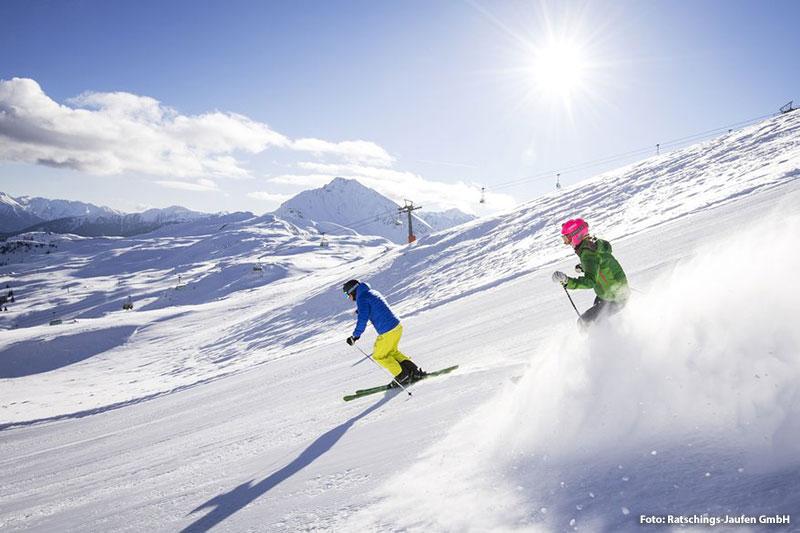 Skifahren im Skigebiet Ratschings-Jaufen/ Südtirol