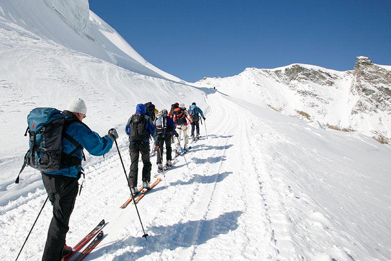 Perfekte Bedingungen für Skitourengänger