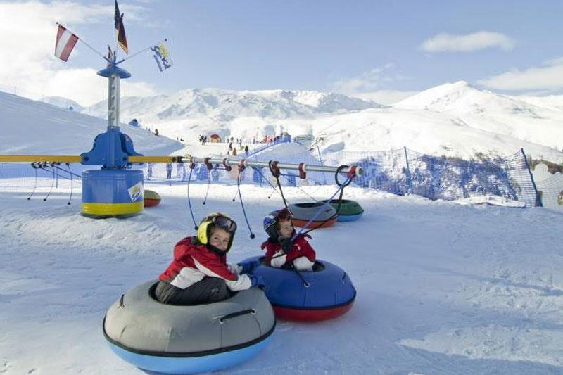 Kinderspielplatz im Skigebiet Schöneben