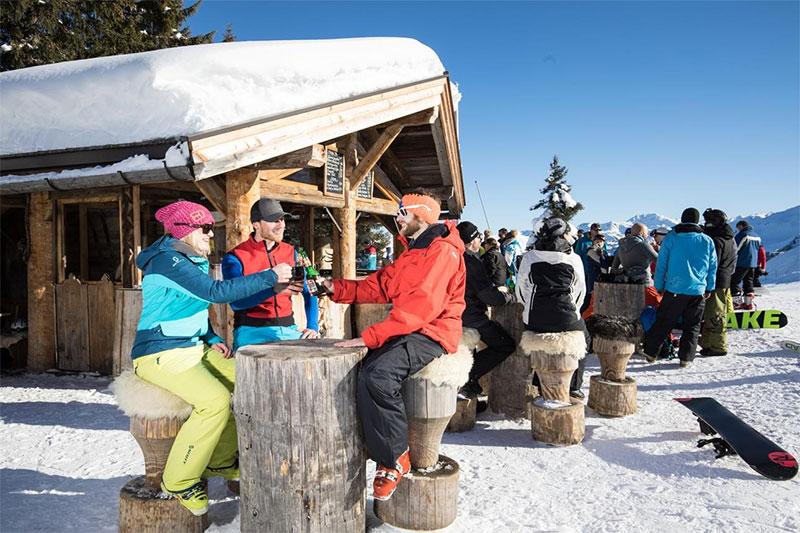 Moosa Stadl - kleine Bar an der Bergstation Schatzbergbahn