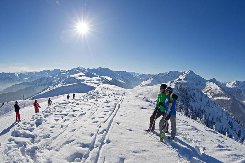 Panoramablick an der Gipfelbahn Schatzberg