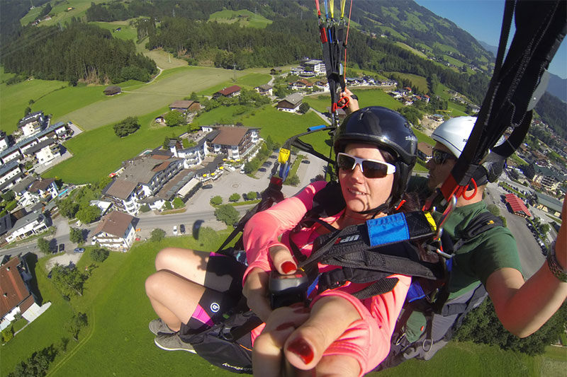 Tandemflug mit Juniorchef Christian