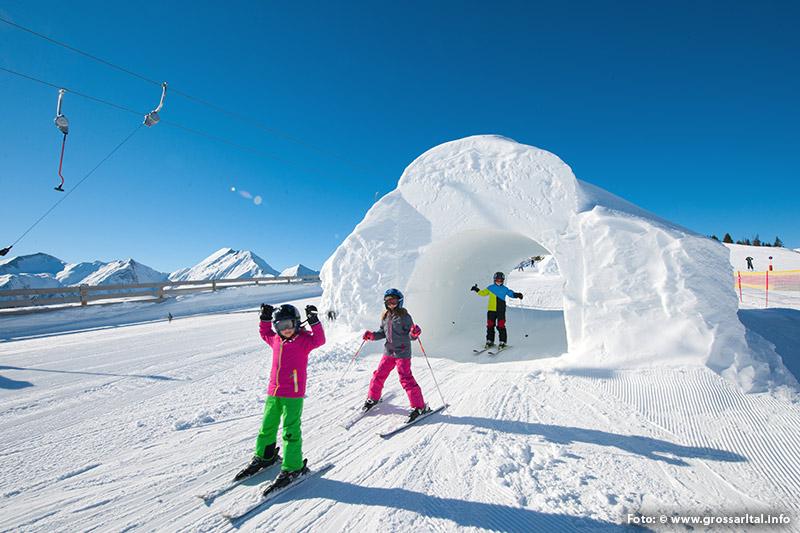 Kinder-Schneetunnel-Funslope Großarltal