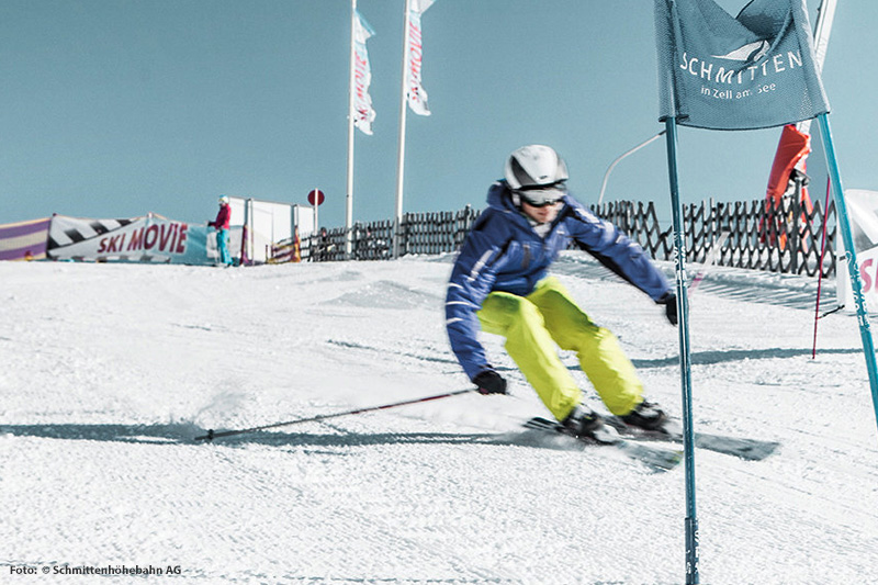 Skimovie Strecke bei der Hochmaisbahn
