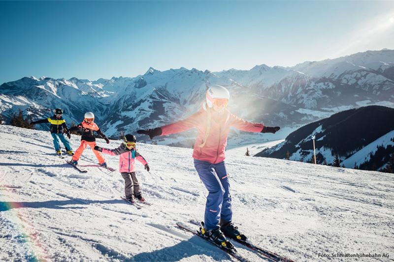 Skispaß am Pinzgauer Familienberg Schmittenhöhe