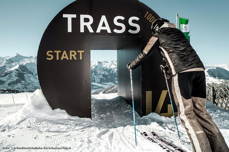 Trass-Abfahrt - die schwarze Piste auf der Schmittenhöhe