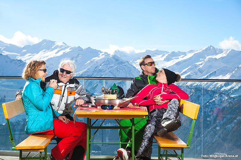 Eine kleine Auszeit nach dem Skifahren