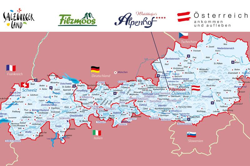 Alpenhof-Alpenkarte