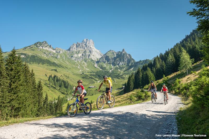 Mountainbiken mit der Familie