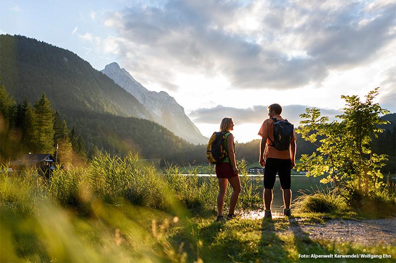 Wanderung zum Lautersee bei Mittenwald